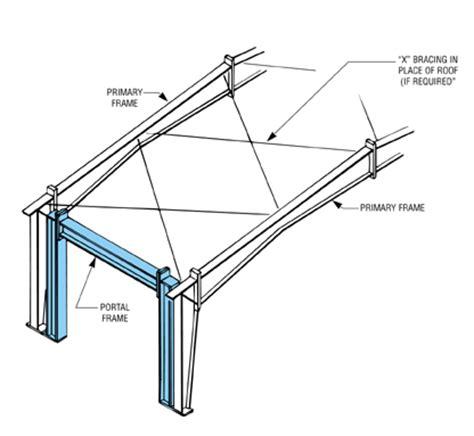 design portal frame exle portal frame bracing