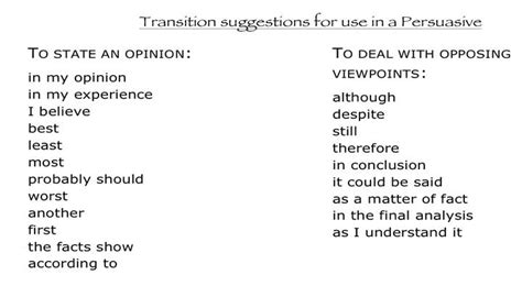 Transition Words For A Persuasive Essay by Mrs Swanda S Writing Resources Persuasive Words And Phrases