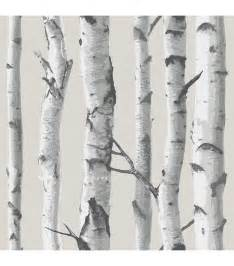 stick wall wallpops 174 nuwallpaper birch tree peel and stick wallpaper