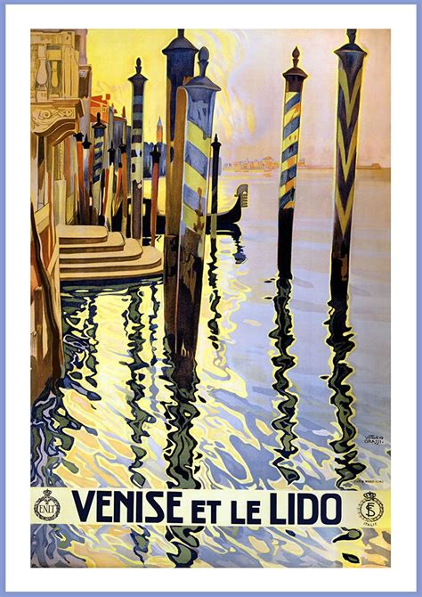 Italy Dll Poster Vintage 4 Frame venice italy vintage travel print poster sizes a4 a3 a2 a1 002706