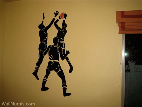 basketball wall mural sports wall murals by colette sports themed rooms