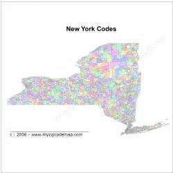 New York Area Codes Map by New York State Map Zip Codes