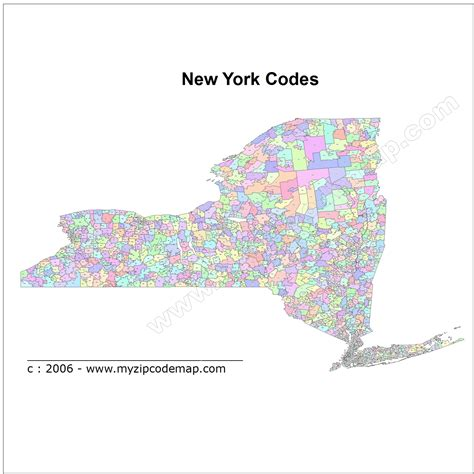 Zip Code Map Upstate Ny | new york state map zip codes