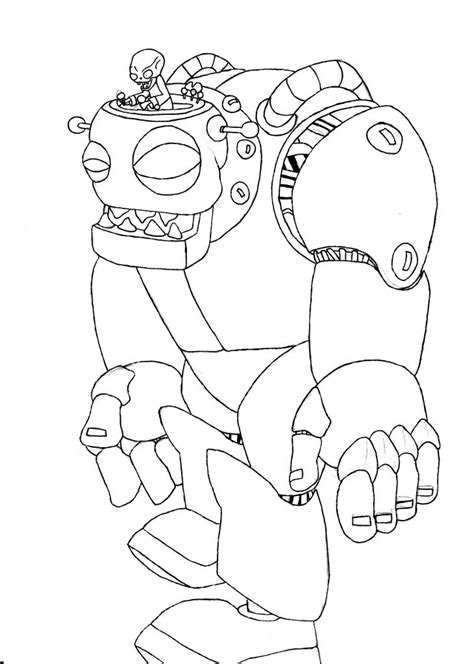 printable coloring pages plants vs zombies image zombot jpg plants vs zombies character creator