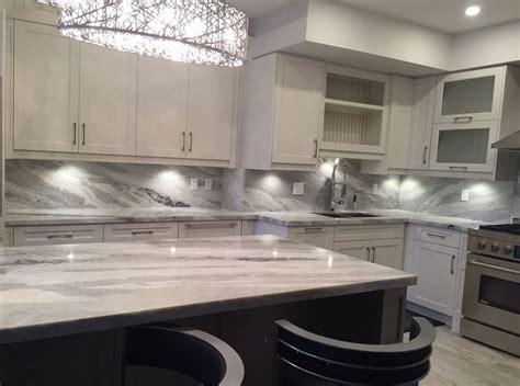 Kitchen Backsplash Stone mont blanc quartzite kitchen and full backsplash