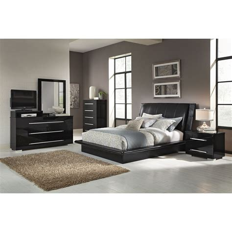 Dimora Black 7 Pc Queen Bedroom Value City Furniture Value City Furniture Bedroom Set