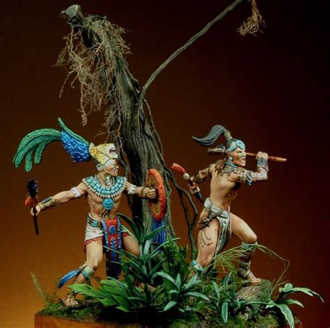 imagenes guerreros mayas miniaturas jm 187 obras maestras figuras 187 guerreros mayas