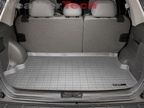 cargo mat trunk liner for 2008 ford escape weathertech 174 cargo liner ford escape 2005 2012 grey