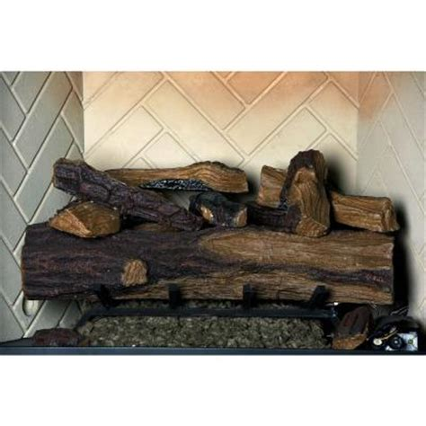 gas fireplace logs emberglow 24 in appalachian oak
