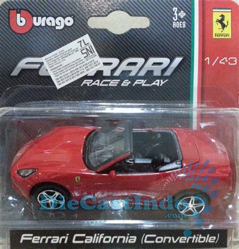 Bburago California Convertible 143 Bburago 1 43 Diecast Indonesia All Diecast