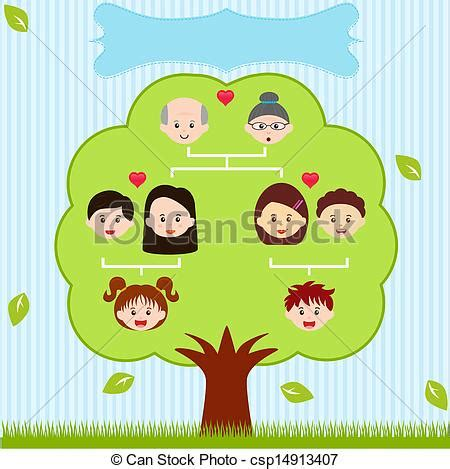 vector clipart of vector icons family tree a diagram on