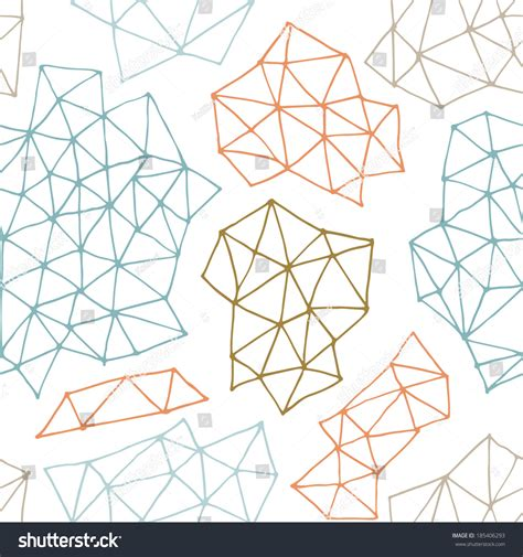 geometric pattern outline vector seamless pattern with outline geometrical shapes