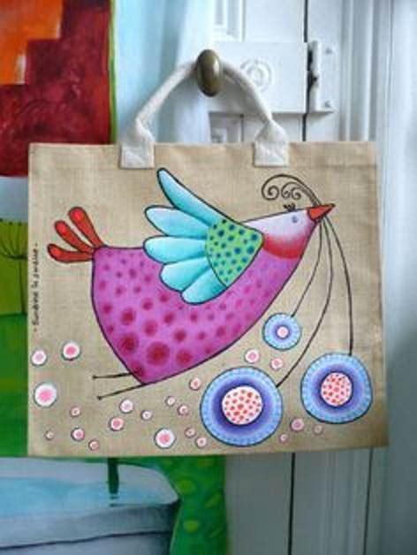 craft ideas block painting  tote bag craft community