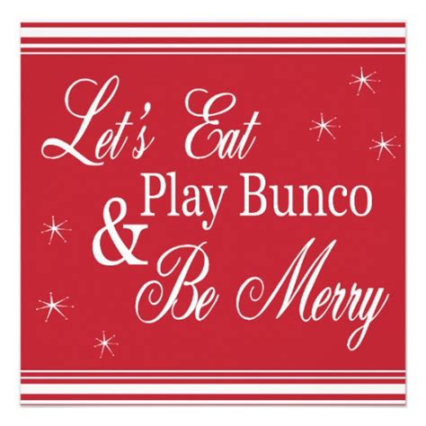 bunco invite let s eat play bunco and be merry 5 25