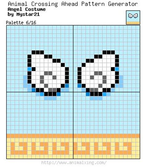 visual pattern image coding wings pattern acnl wearables pinterest wings