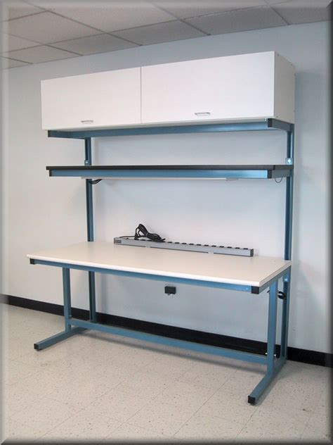 what is a bench technician rdm workbench f 103p cab tech table w upper shelf lower storage cabinet