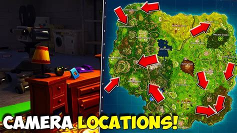 where fortnite cameras all locations in fortnite in front of