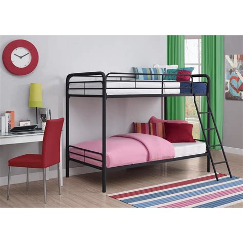 metal bunk beds twin over twin dhp twin over twin metal bunk bed 3135196 the home depot