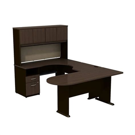 Bush U Shaped Desk Bush Business Series A U Shaped Desk With Hutch And Storage Sra009wa