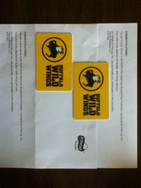 Buffalo Wild Wings Gift Card Deals - ruffles most epic bracket ever promotion won a 5 buffalo wild wings gift card