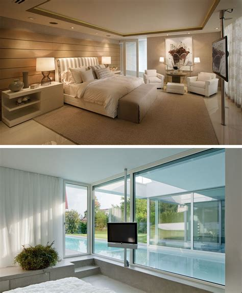 height of tv in bedroom 8 ways to include a tv in the bedroom contemporist