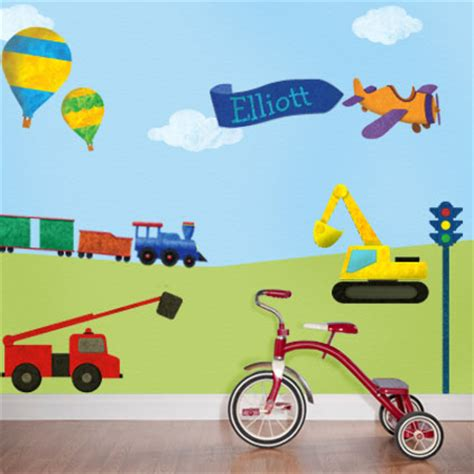 transport wall stickers personalized theme wall sticker kit now available