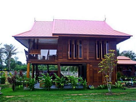 home design company in thailand wooden house thai style house with basement and balcony