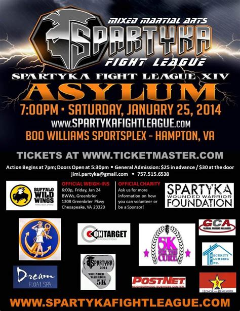 Ticket Giveaways - closed ticket giveaway spartyka fight league xiv asylum ask naoma