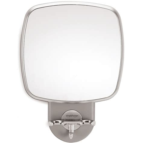 Anti Fog Bathroom Mirror Simplehuman Anti Fog Wall Mount Shower Mirror Silver Bt1070 Brand New Ebay