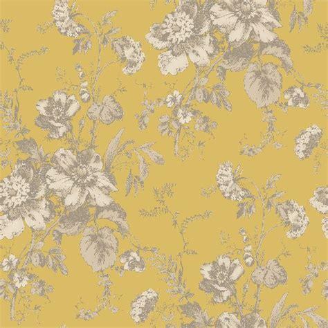 gold wallpaper at b q arthouse vintage fleurette gold wallpaper departments