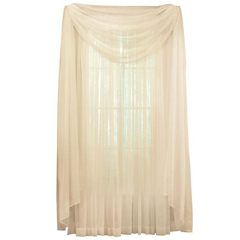 curtain scarf sheer window scarf curtain by collections etc ebay