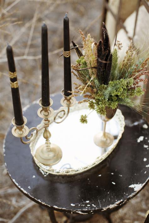 gothic bohemian fall wedding inspiration shoot modwedding