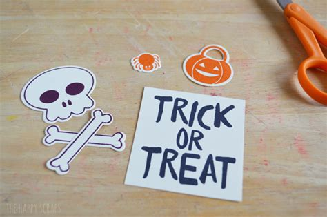 foiled trick or treat printable the happy scraps halloween sucker packaging the happy scraps