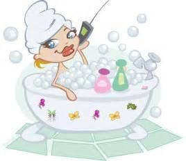 badewanne comic kostenlose vektorgrafik bad blasen handy