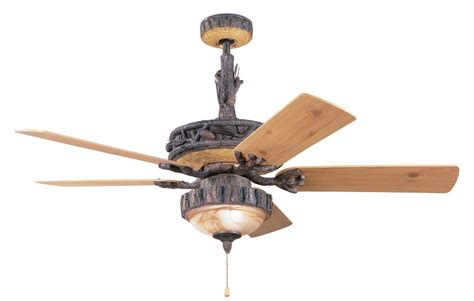 rustic cabin ceiling fans creating the house mood 20 best rustic ceiling fans