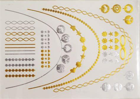 9 flash temporary and jewelry tattoos cheritatts 9 metallic tattoos flash tattoos gold