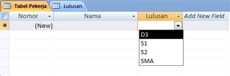 Cara Membuat Menu Dropdown Di Access   membuat menu list pilihan drop down di form m access