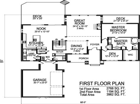 Open Floor House Plans Two Story | third floor 2 story open floor house plans modern two