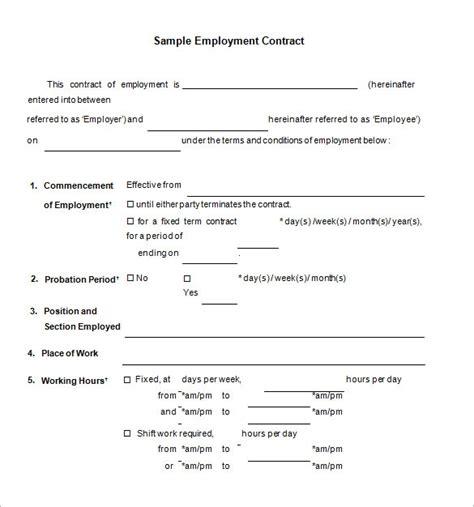 job contract templates word pages docs  premium templates