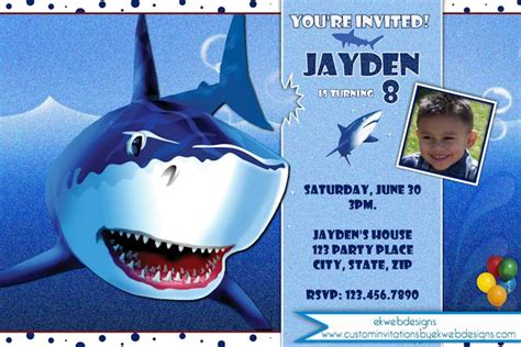 shark birthday card template shark birthday invitation shark invitations