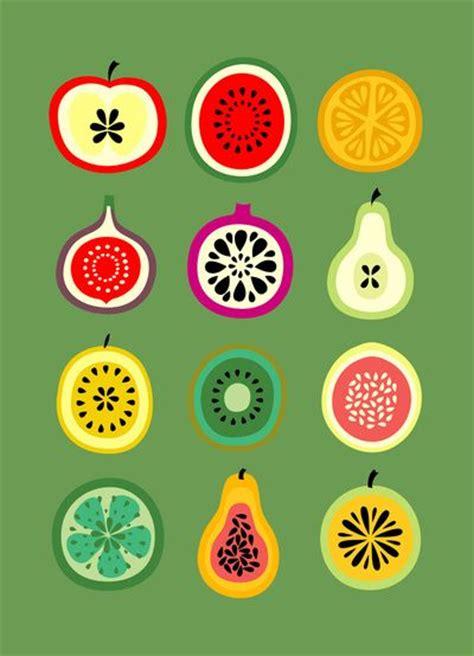 printable fruit poster banca de frutas art print fruit print bright colours