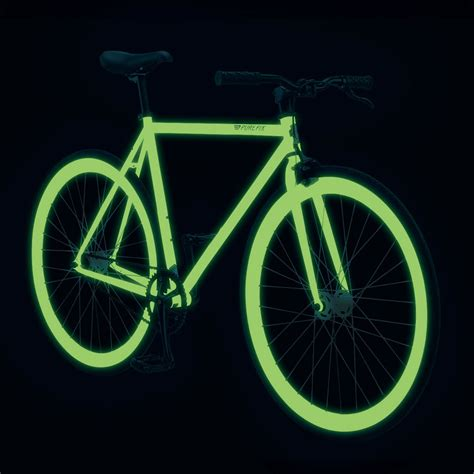 glow in the paint bicycle fix zulu fully glow in the bicycle the green