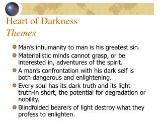 major themes in the novel heart of darkness ppt impressionism and archetypal imagery in heart of