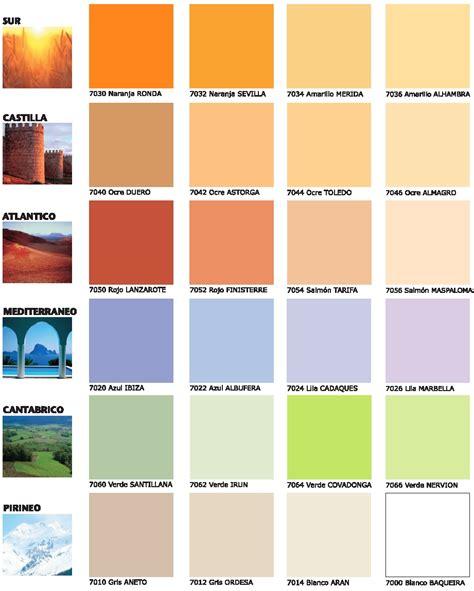 carta de colores de pinturas para interiores colores de nuestra tierra