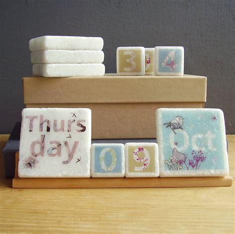 Handmade Calendar Designs - decorative perpetual desk calendar by littlebirdydesigns
