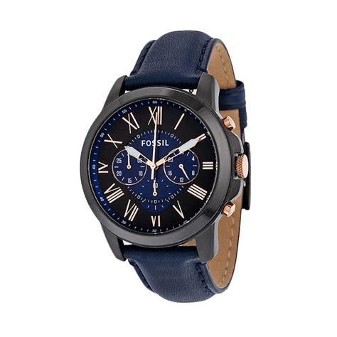 Jam Tangan Wanita Fossil Sayap Blue jual fossil fs 5061 jam tangan pria blue harga kualitas terjamin blibli