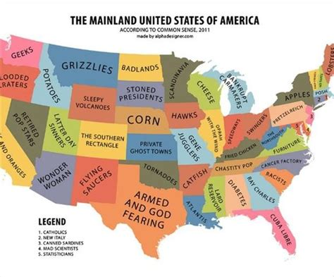 usa map jokes united states of america map dump a day