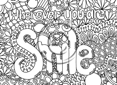 Free Printable Coloring Pages by Free Abstract Words Coloring Pages