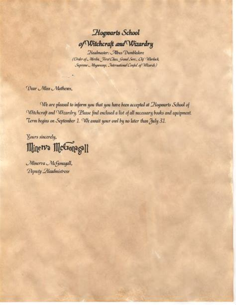 Hogwarts Acceptance Letter Create Your Own Make Your Own Diy And Crafts And How To Make Your On