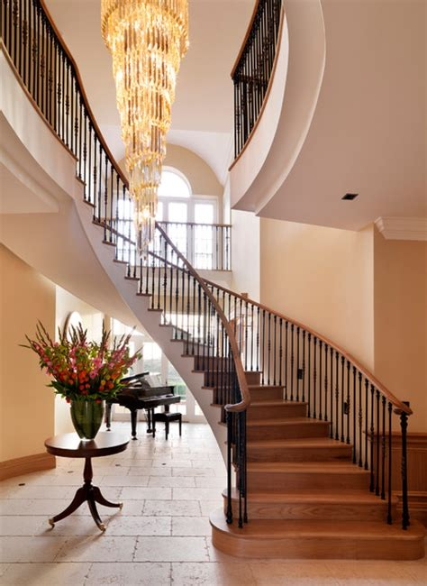 Staircase Ideas Near Entrance Country House Entrance Traditional Staircase By Oliver Burns